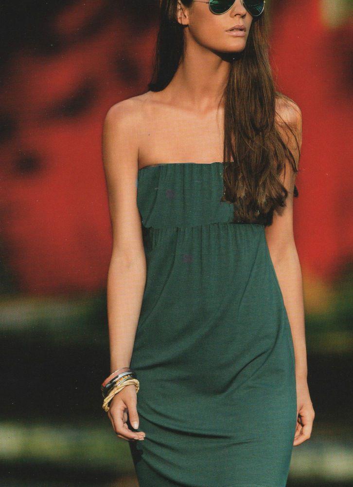 Abito Lungo a fascia Verdissima 2015 verde bottiglia vestito donna dress