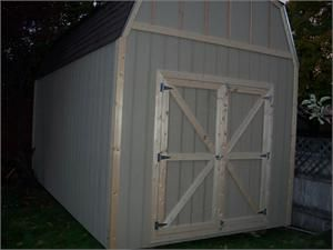10 X 20 Barn Style Wood Shed Kit Storageshedsoutlet Wood Shed Wood Shed Kits Shed
