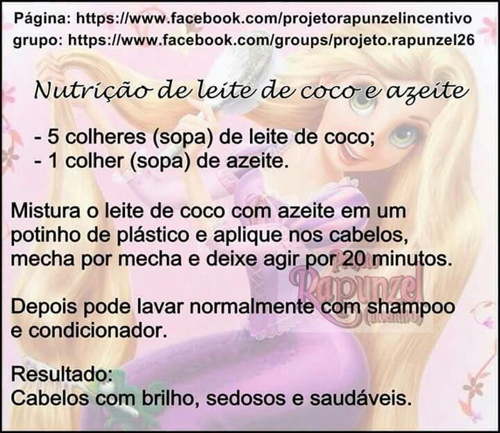 Nutrição de leite de coco e azeite extra virgem