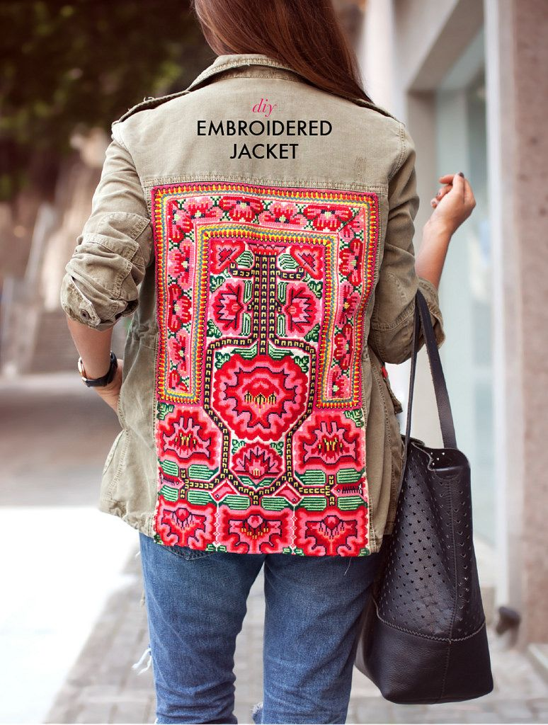 DIY EMBROIDERED JACKET (a pair & a spare) Diy fashion