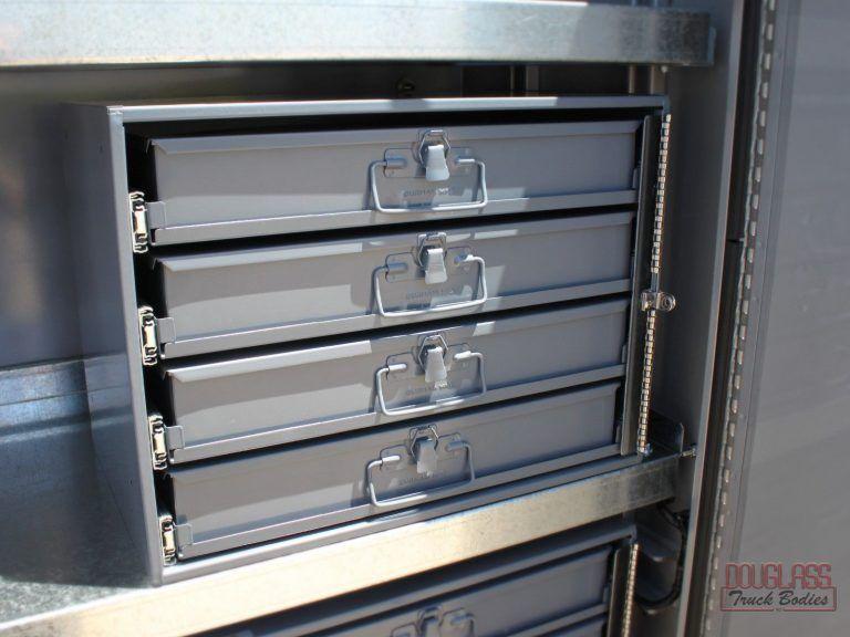 Douglass Service Body 50619 21 Big Jpg In 2020 Tool Storage Adjustable Shelving Drawer Unit
