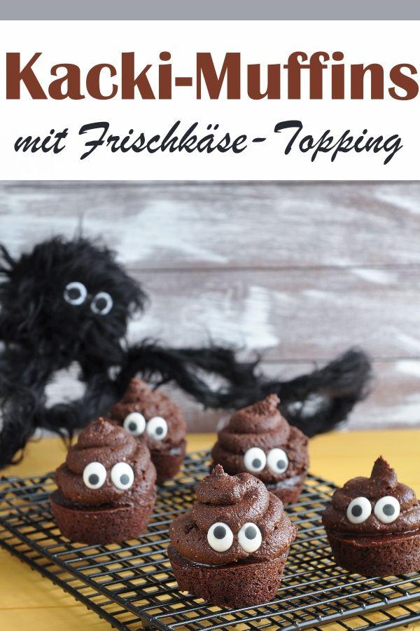 Kacki-Muffins. Für Halloween oder Karneval.