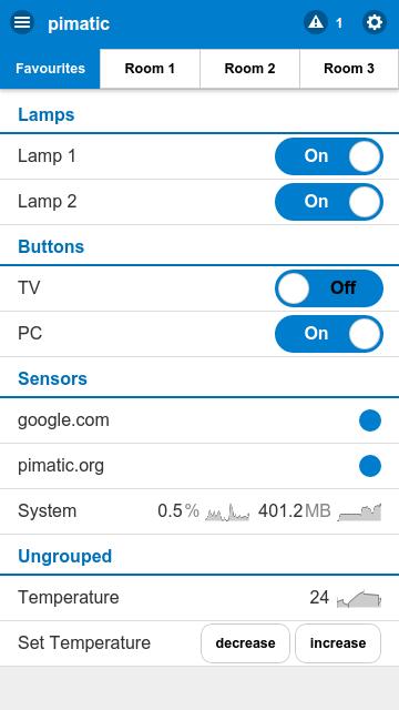 App Steuerung Der Pimatic Fur Raspberry Pi