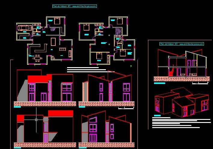 Plan Maison Moderne Dwg Gratuit Plan Maison 0
