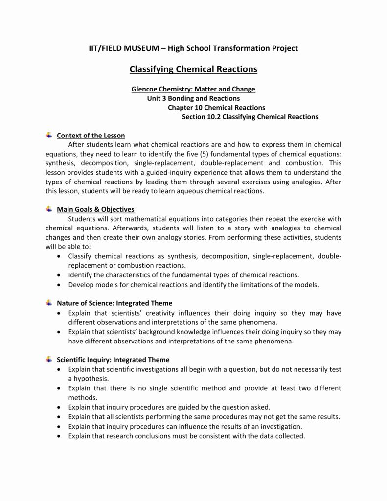 Classification Of Chemical Reactions Worksheet Unique Classifying Chemical Reactions Workshe In 2020 Chemistry Worksheets Parts Of Speech Worksheets Chemical Reactions