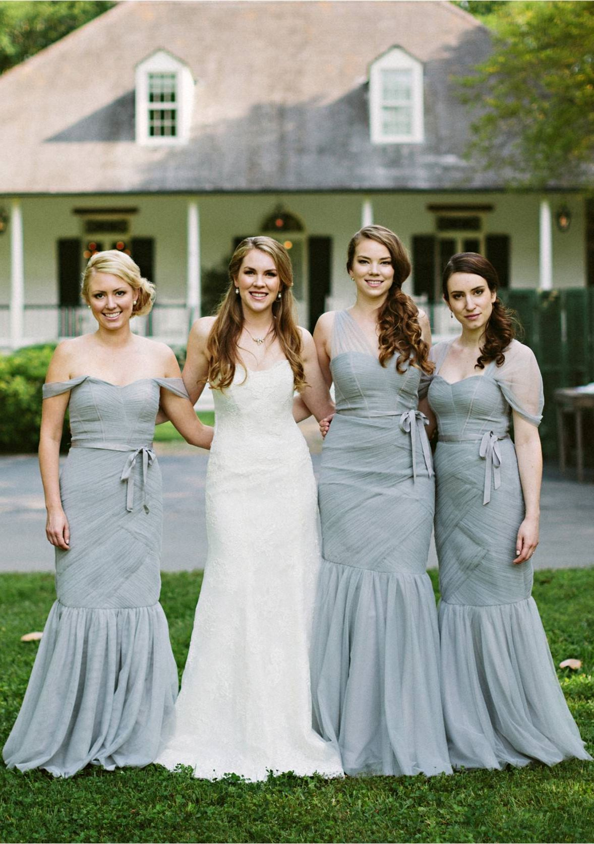 93d33974557 Mermaid Off-the-Shoulder Long Sage Bridesmaid Dress with Sash