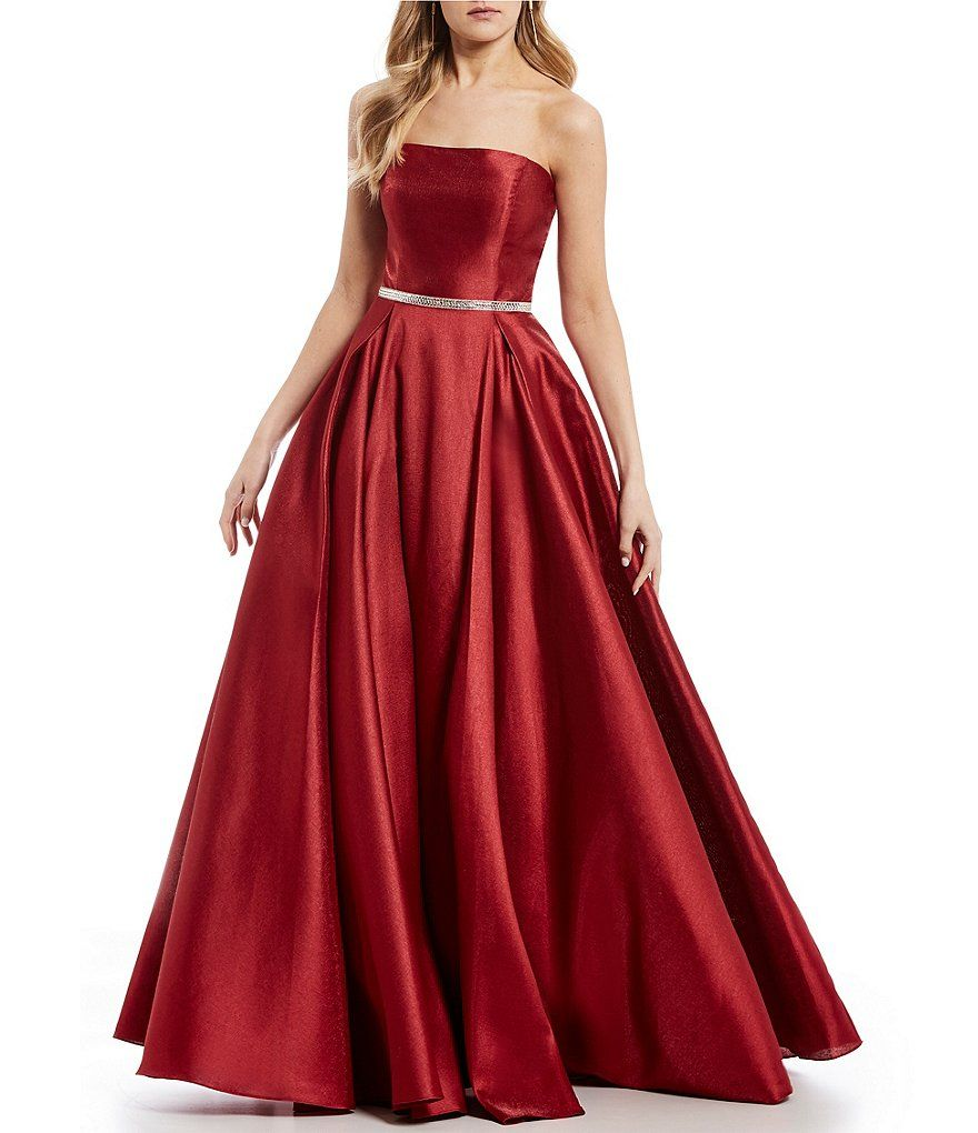 dc5ce24e4ac ... for the perfect long prom or formal dress. Coya Collection Strapless  Satin Ball Gown - Dillard s