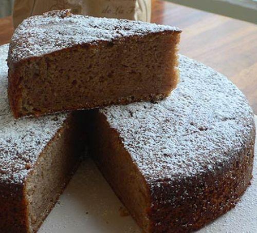 Lemon, crème fraîche & chestnut cake