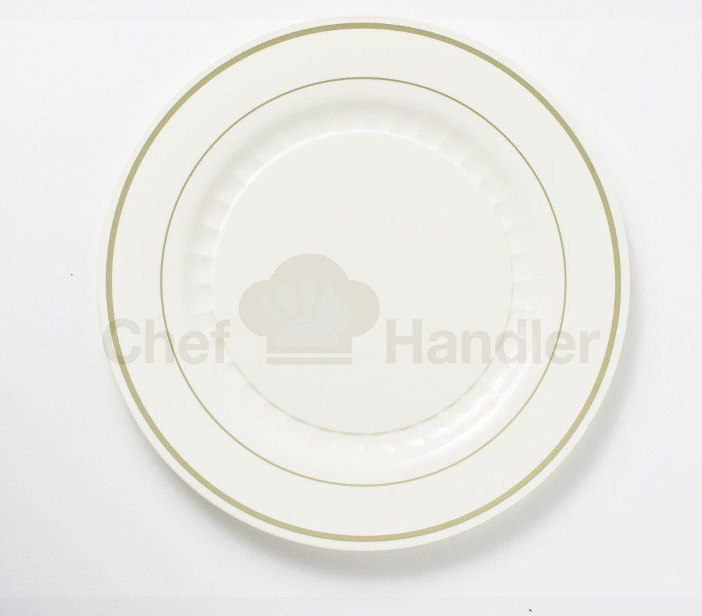 Mystique 7.5\u2033 Round Heavy Duty Plastic Plates Beige/Gold - 50ct & Mystique 7.5\u2033 Round Heavy Duty Plastic Plates Beige/Gold - 50ct ...