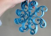 Paper making: paper Christmas decoration #floconsdeneigeenpapier