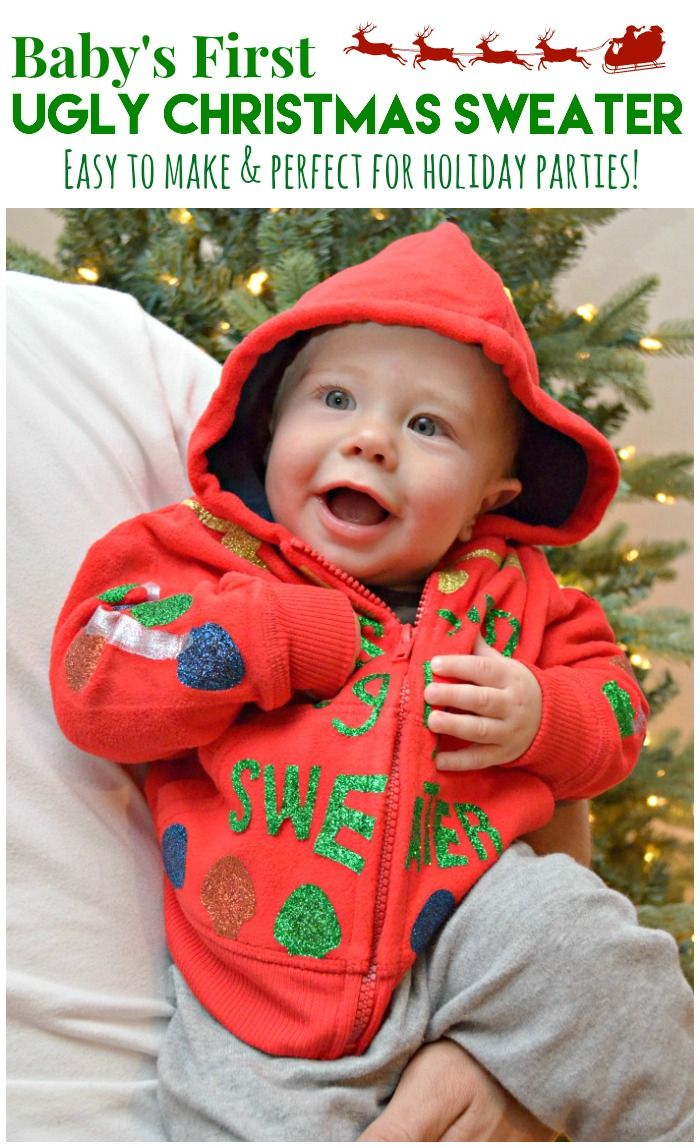 Diy Babys First Ugly Christmas Sweater Using At Ilovetocreate