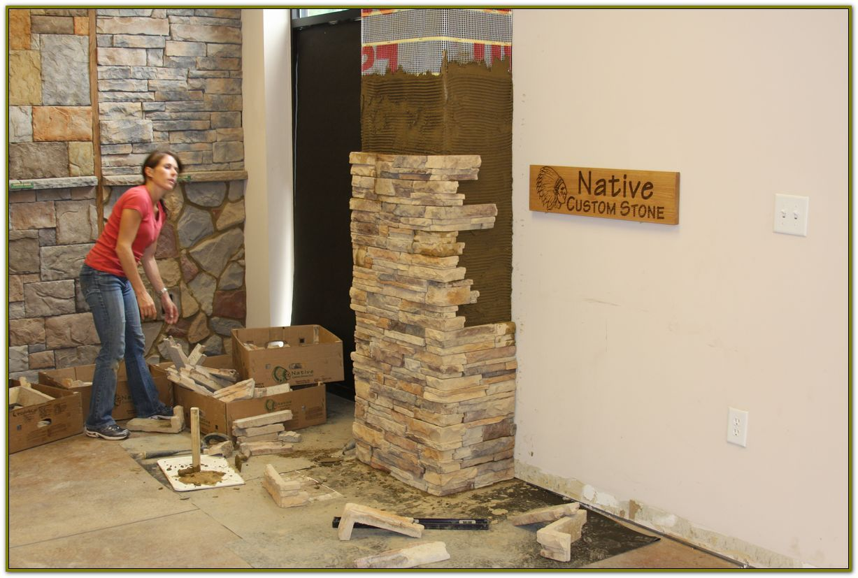 Stone Veneer Panels Can Be A Weekend Project Native Custom Stone Stone Veneer Panels Faux Stone Panels Faux Stone Fireplaces