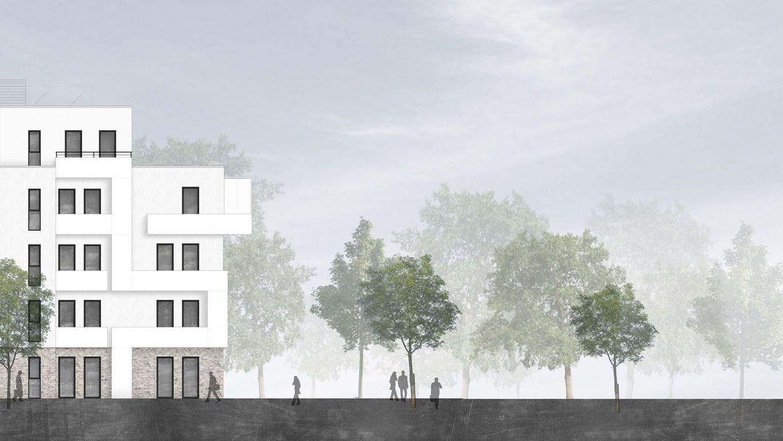 Ansicht Architektur td architekten am hohen haus ansicht architektur darstellung