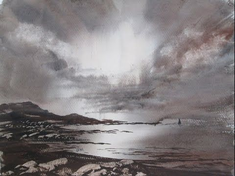 Light On The Ocean Watercolour Painting Demonstration Youtube