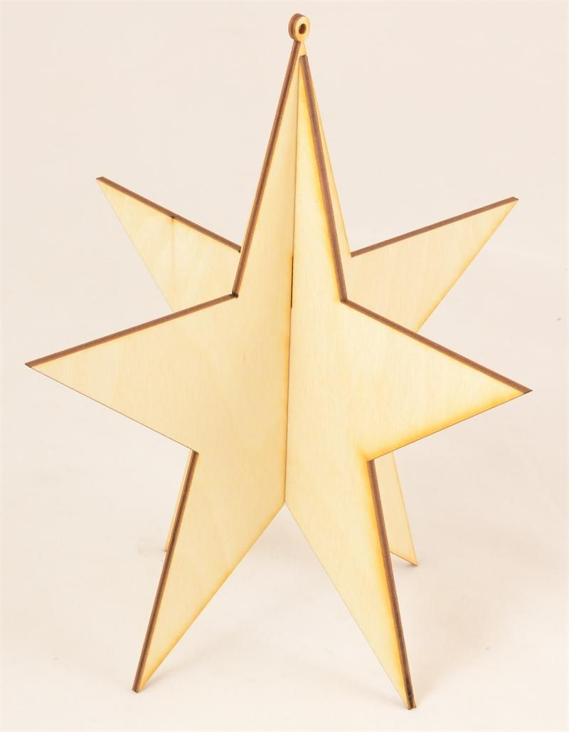 3d Wood Star Ornament Wood Stars Star Ornament Wood Ornaments