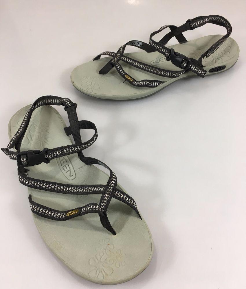 b698afd5c114 Keen Womens 7.5 La Paz Strap Thong Black Water Trail Sports Sandals 1003787   Keen  SportSandals  Casual