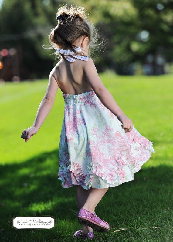 Madelyn Halter Dress PDF pattern Sizes 2T by HandmaidensCottage