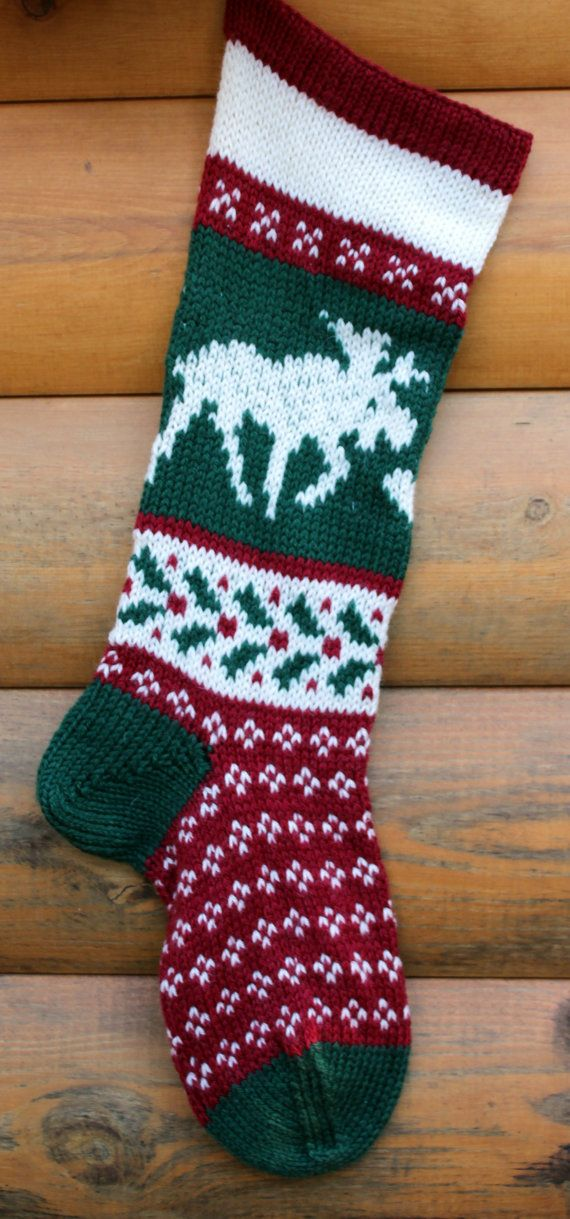 Hand knit Christmas Stockings on Etsy. Top rated seller ...