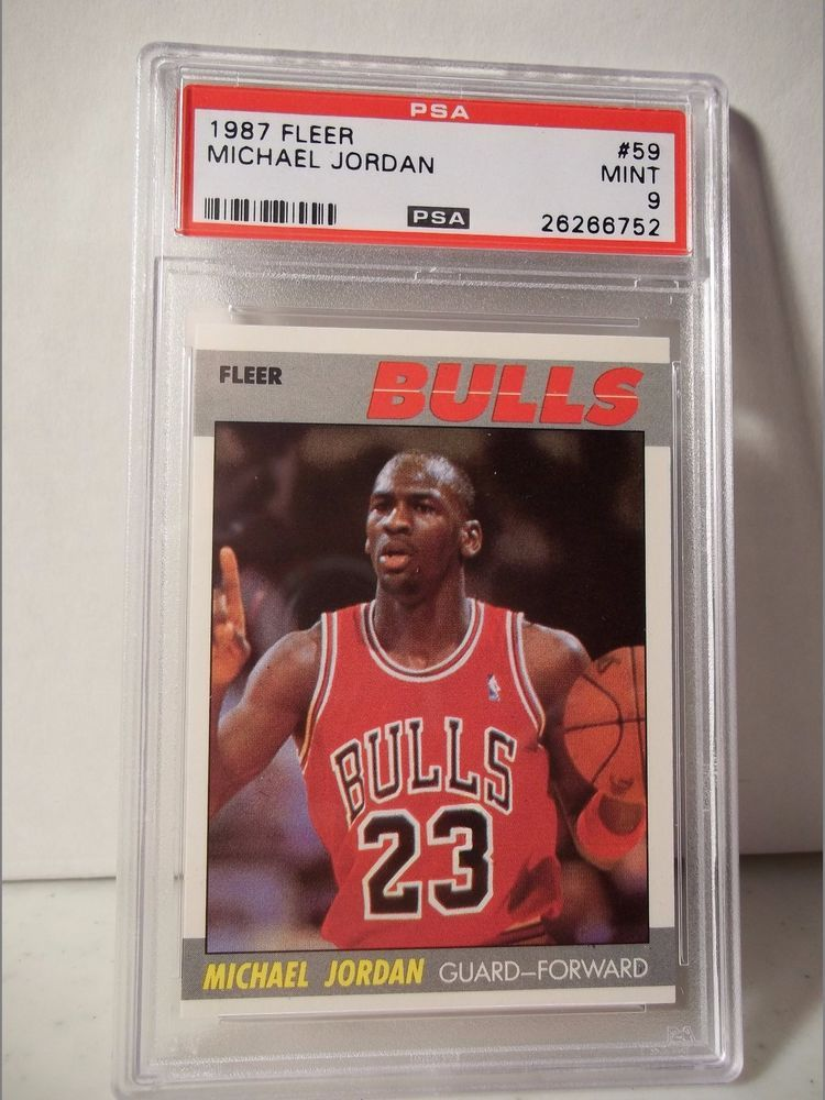 1987 fleer michael jordan psa mint 9 basketball card 59
