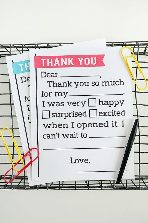thank you letter for kids free printable letter that lets kids fill in the blanks its perfect for birthdays and teaching your kids to say thank you