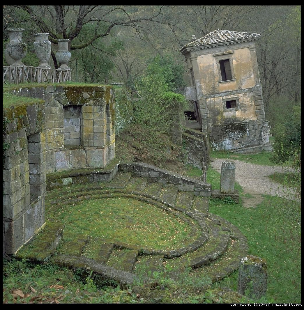 """Bosco dei Mostri (""""Monsters' Grove""""), Bomarzo, Italy ~ ((cool pic I couldn't classify between my boards lol..))"""