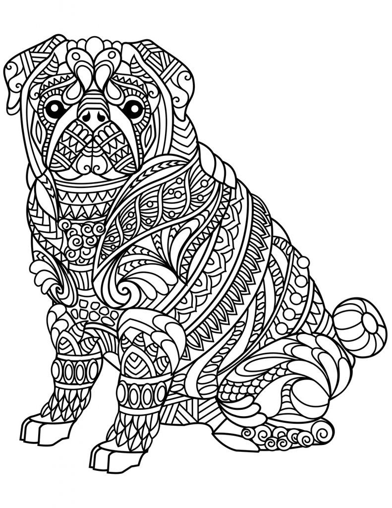 Dog Coloring Pages For Adults Adult Coloring Pages Dog Coloring