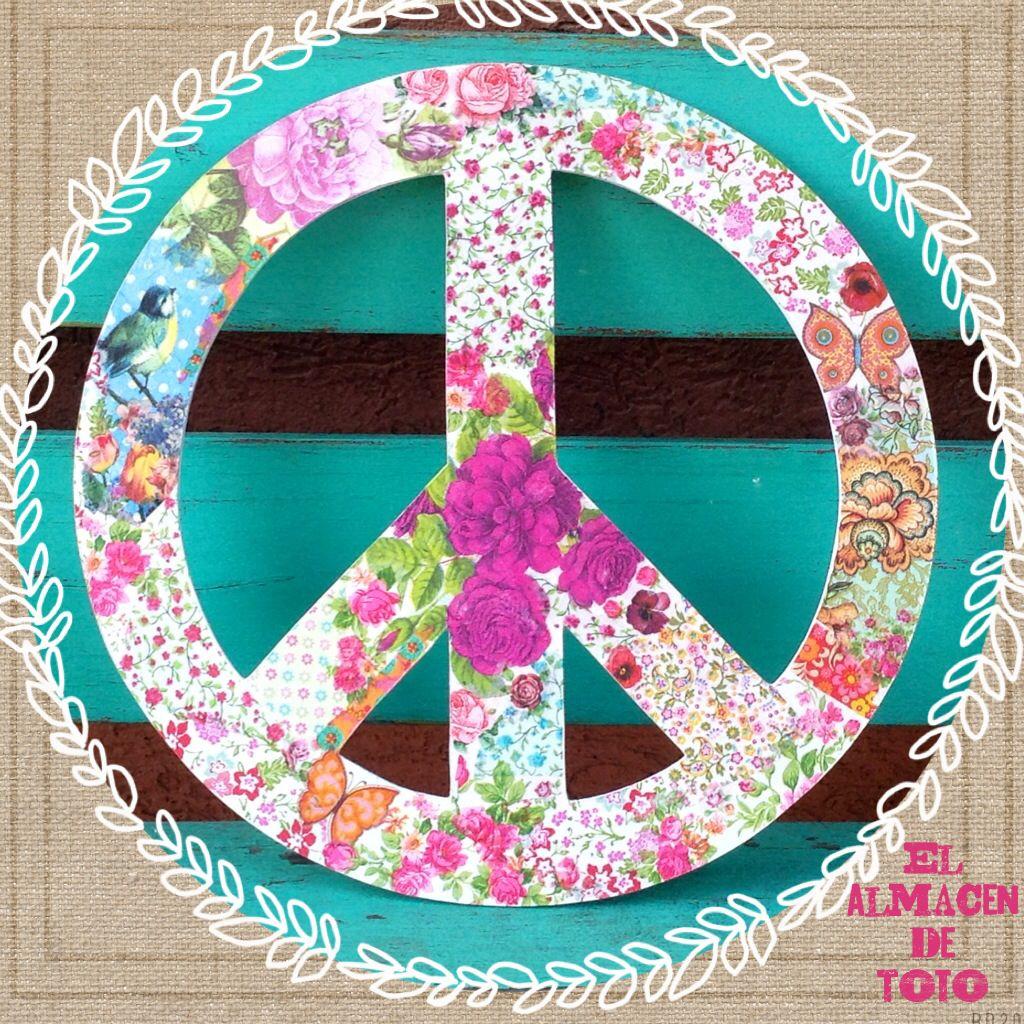 Simbolo de la paz gigante en decoupage