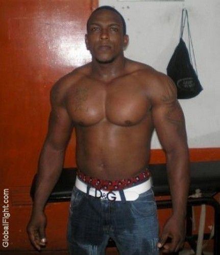 Gay black muscle men