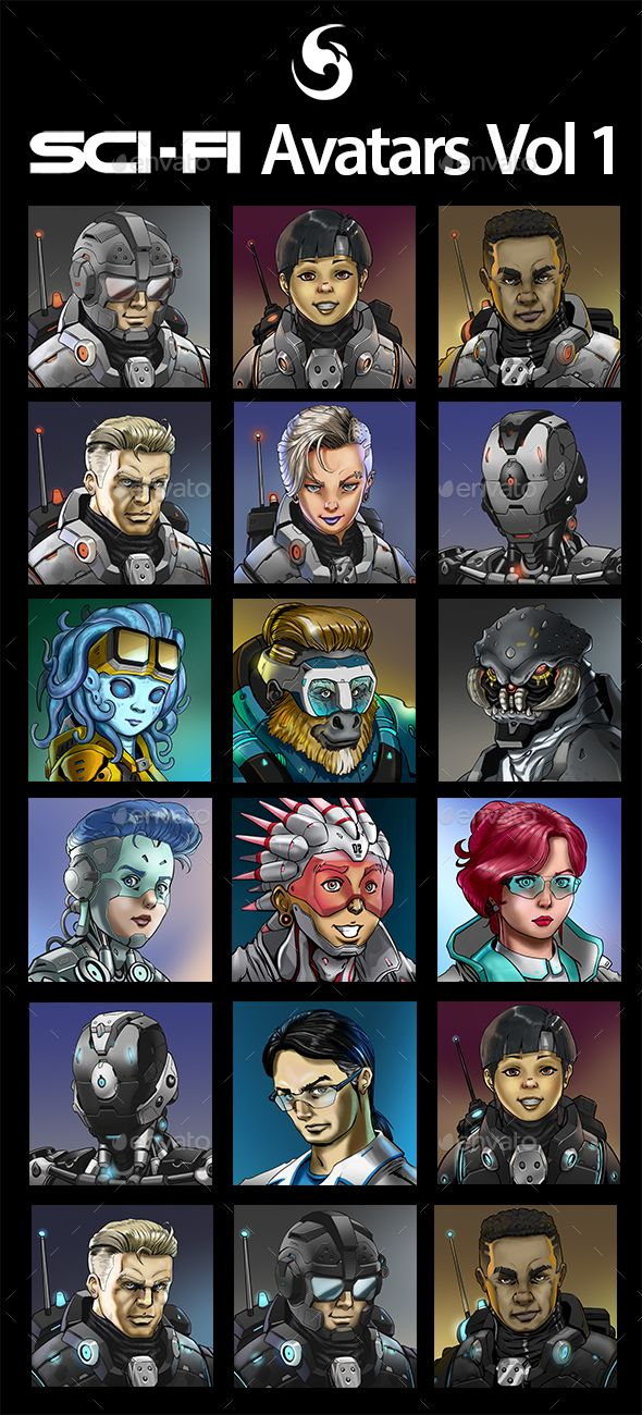 SciFi Characters Avatar Vol.1 Miscellaneous Game Assets
