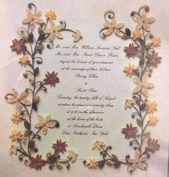 Wedding Invitation Quilling Keepsake Kit Vintage by planetalissa