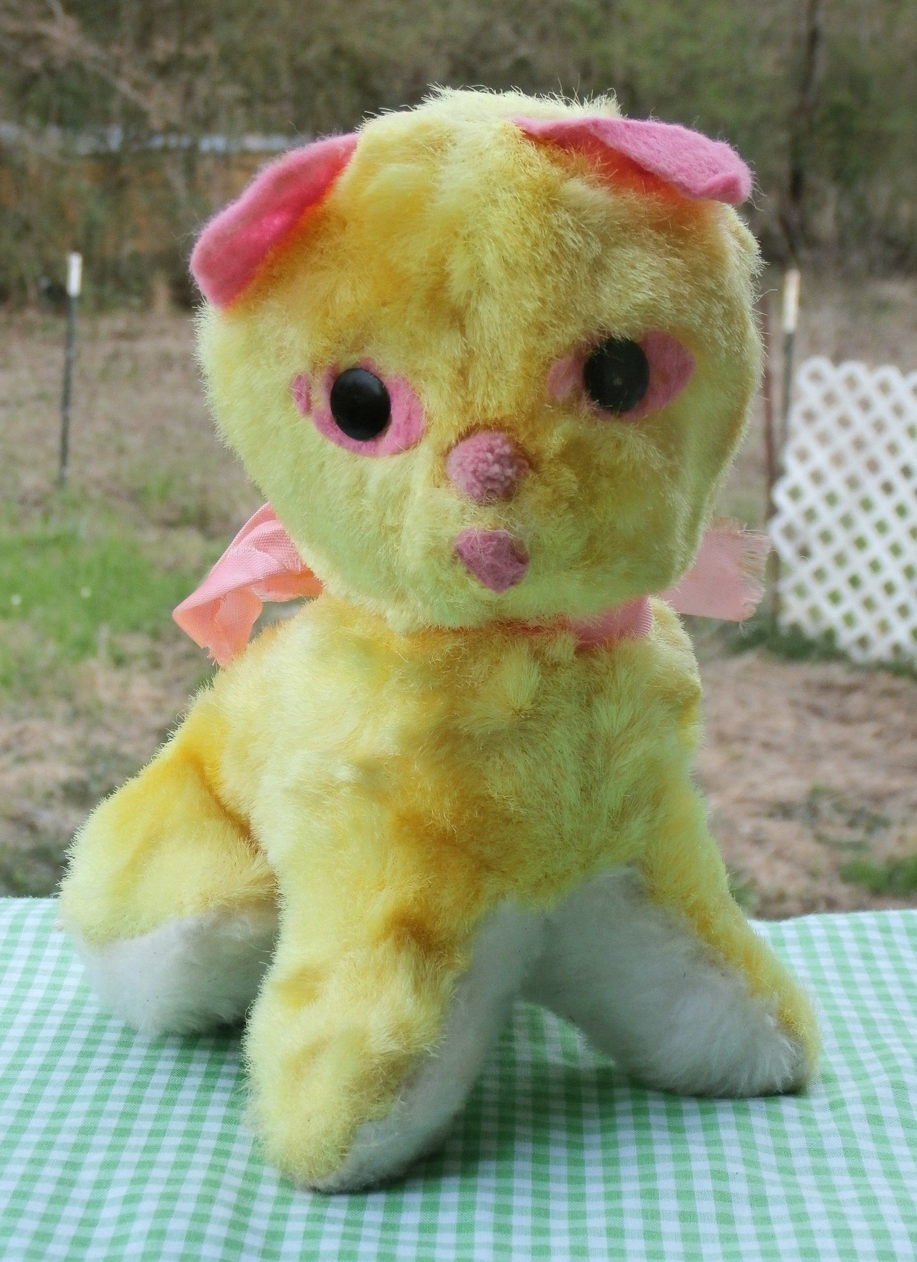 Vintage Plush Cat Carnival Prize Style Stuffed Toy