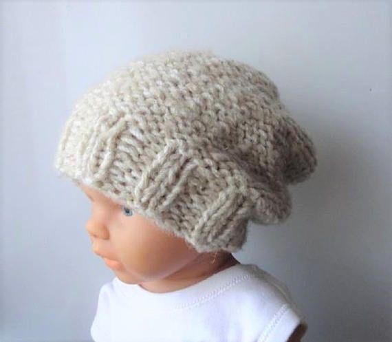 Baby winter hat - Photo Prop Hat - Newborn Hipster Hat - Slouch Baby Hat - Newborn  Knit Hat - Toddler slouchy hat - Slouchy Baby Beanie