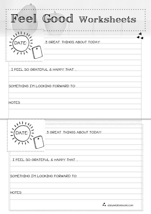 Feel Good Worksheets | Self esteem activities, Therapy ...