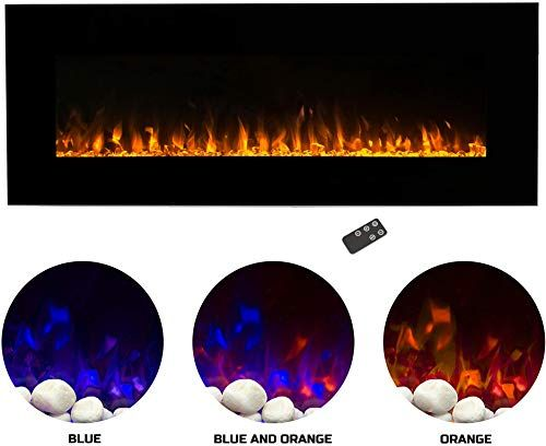 New Home Electric Fireplace Wall Mounted Led Fire Ice Flame