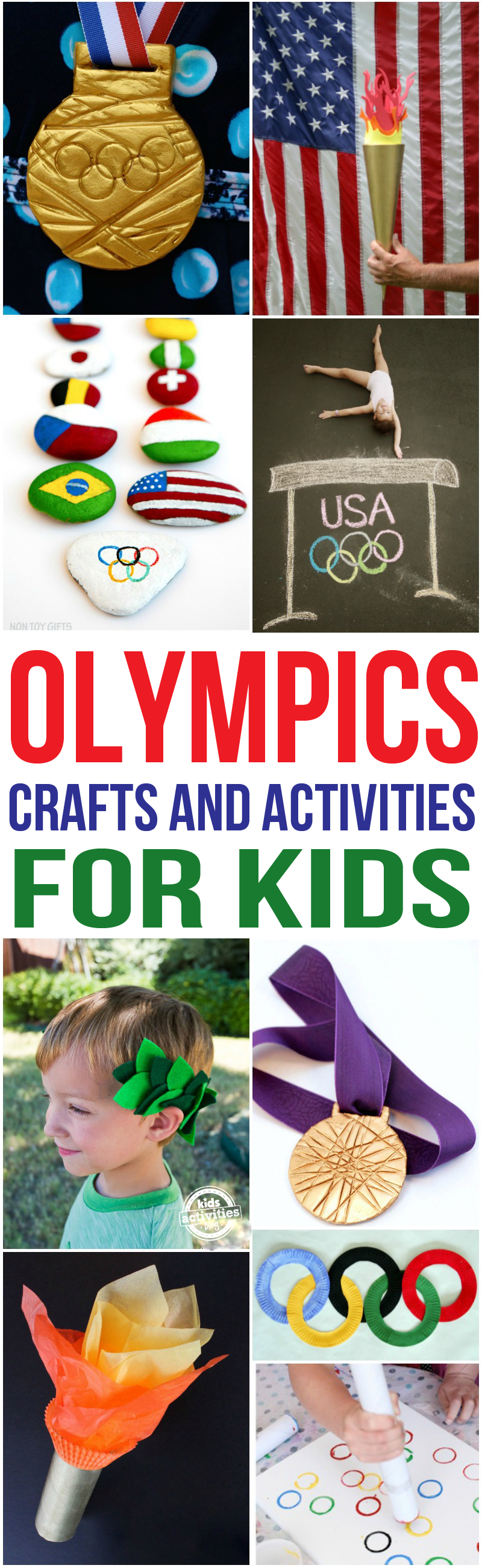 Olympics Crafts for Kids via @hollyhomer