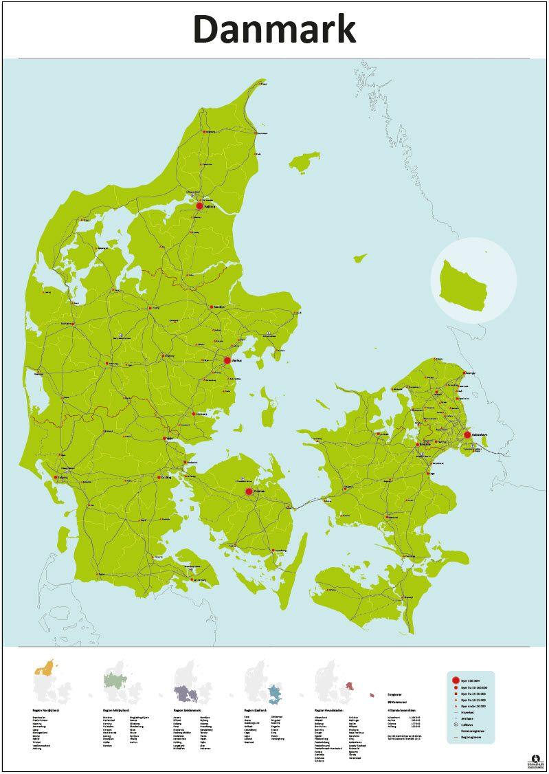 Billedresultat For Danmarks Kort Danmark Kort Plakater