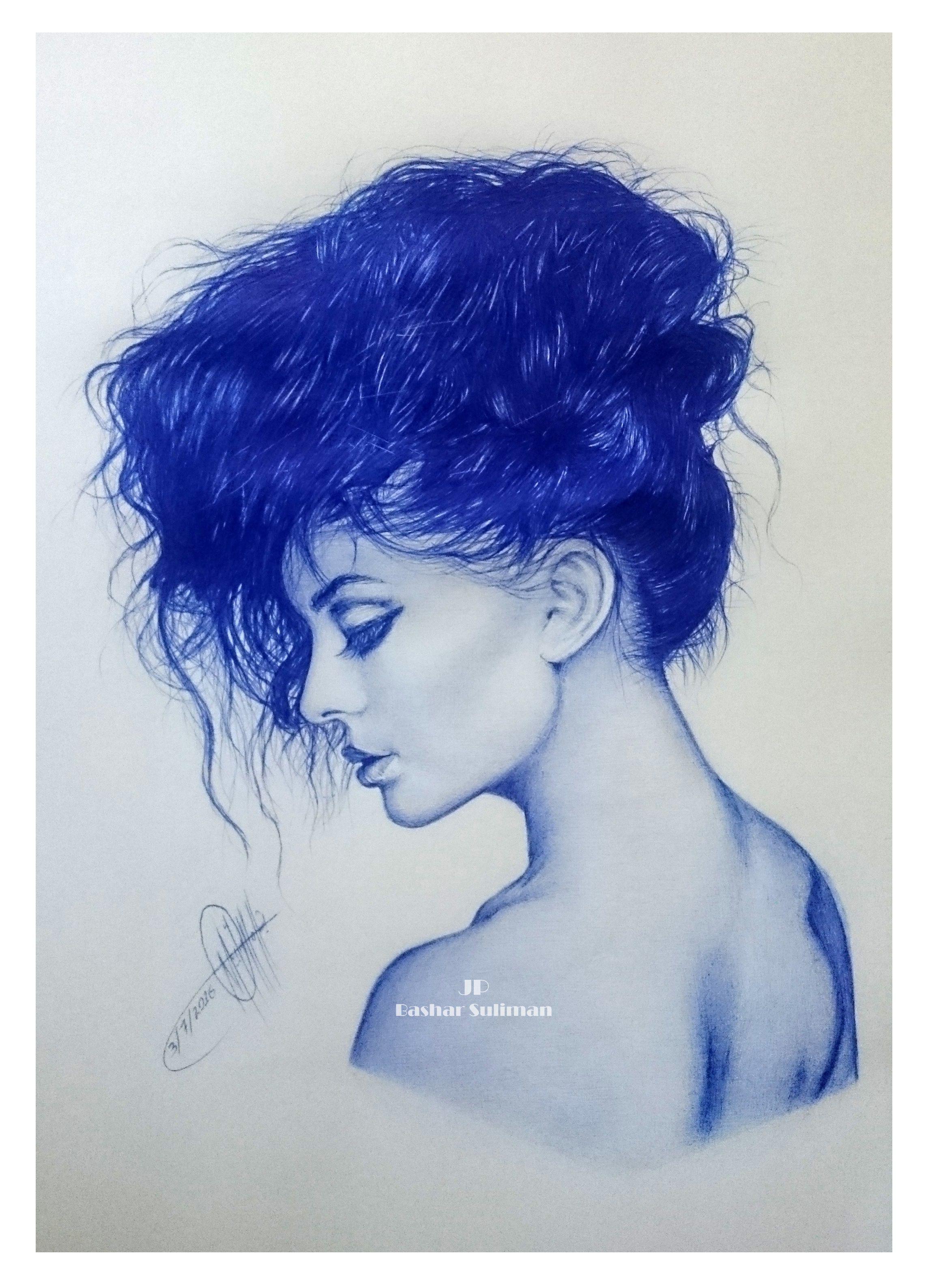 رسومات بالأزرق الجاف طفرة جوز Pen Drawing Drawings Ballpoint Pen Drawing