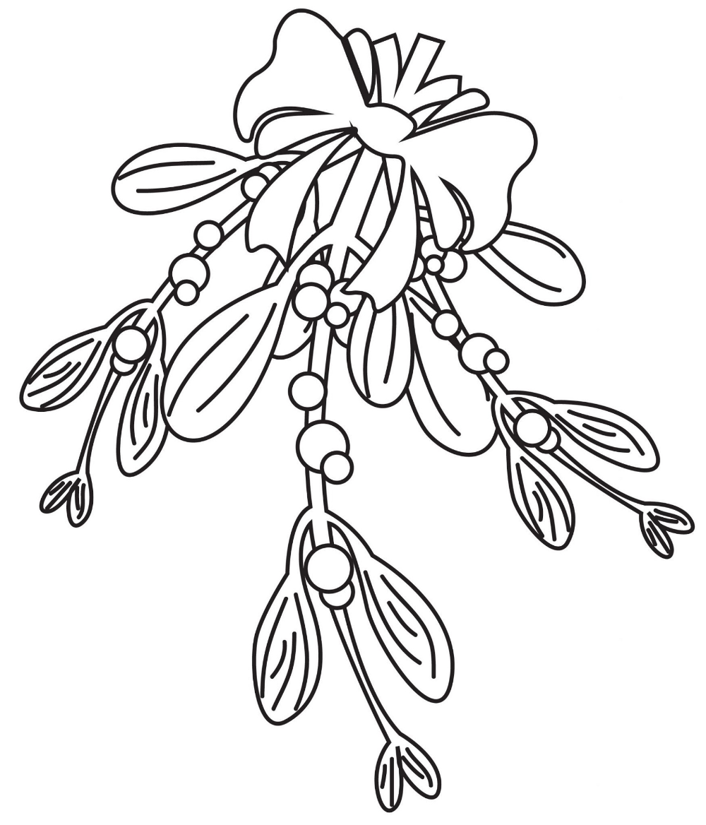 Mistletoe Coloring Pages In 2020 Coloring Pages Christmas Coloring Pages Mistletoe