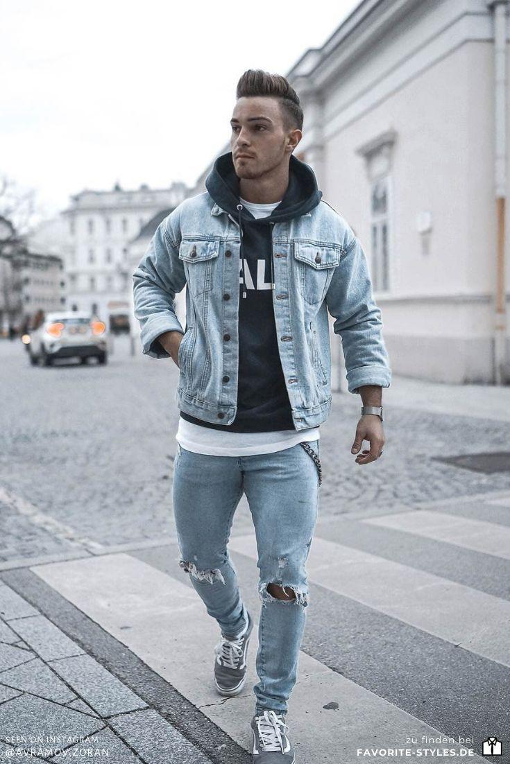 Sportlicher Denim Look für den Herbst mit Jeansjacke