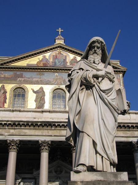 Images Basilica Di San Paolo Fuori Le Mura Basilica View 6444 Roman Church San Basilica