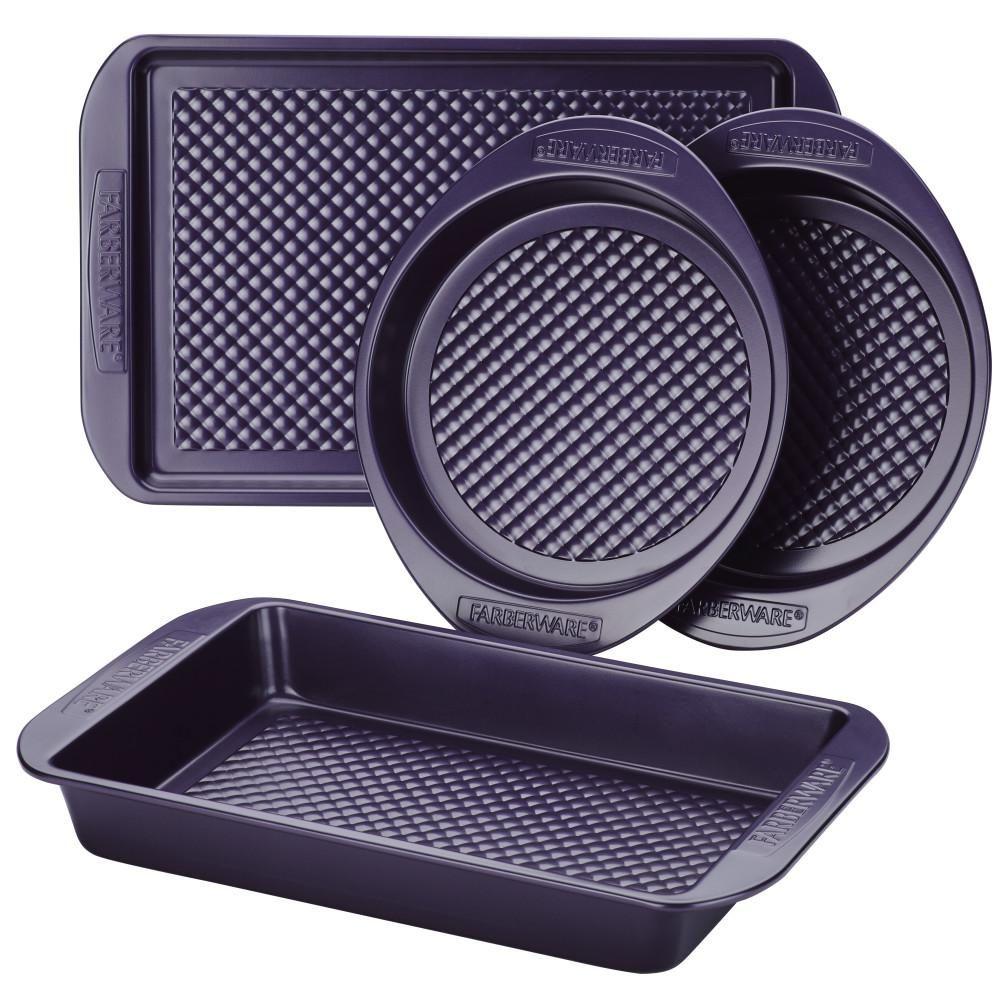 Farberware 4 Piece Colorvive Nonstick Bakeware Set In Purple 47135