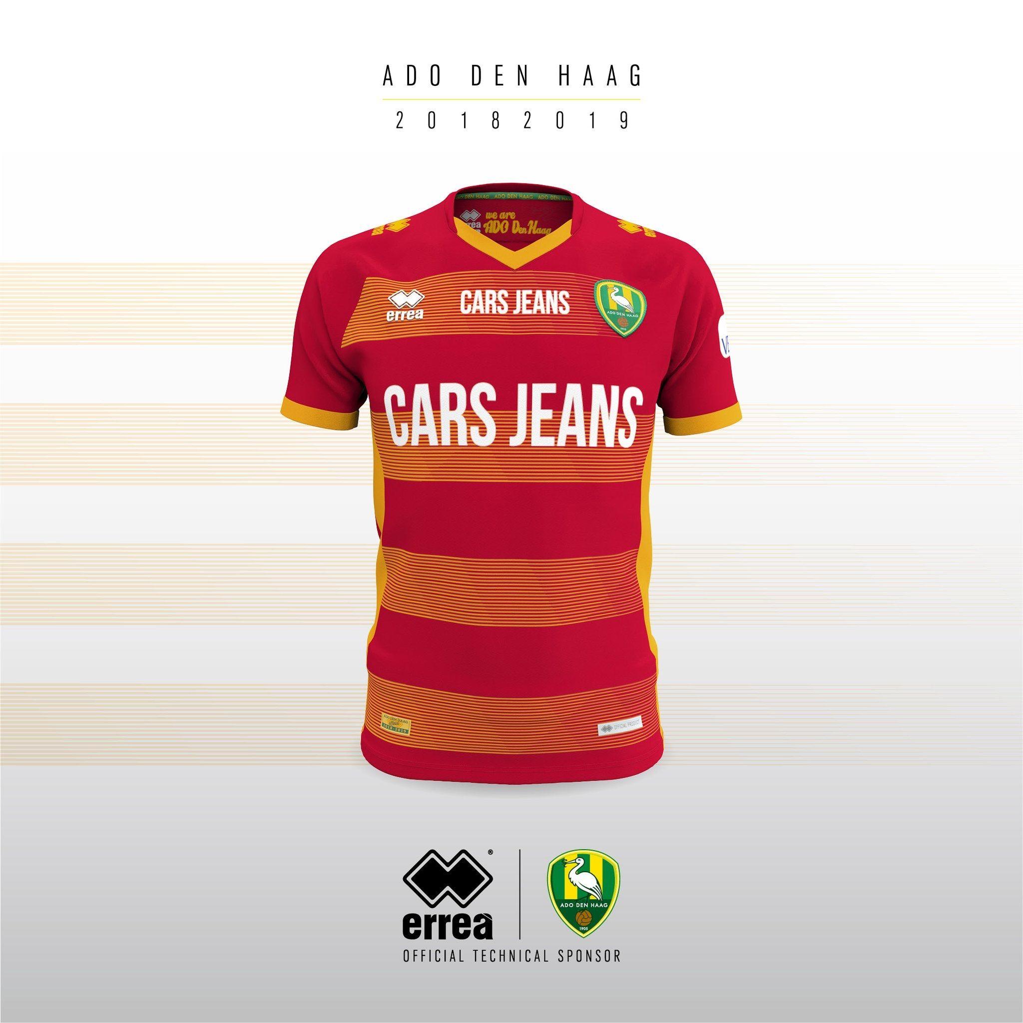 Ado Den Haag 2018 2019 Away Kit Camisetas Jeans Futbol