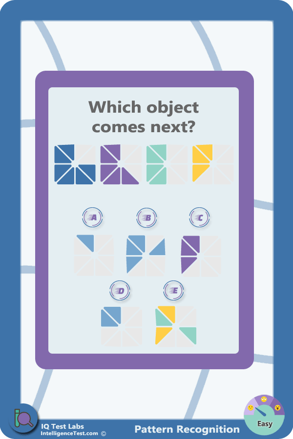 Which Object Comes Next In The Series Iqtest Series Skills