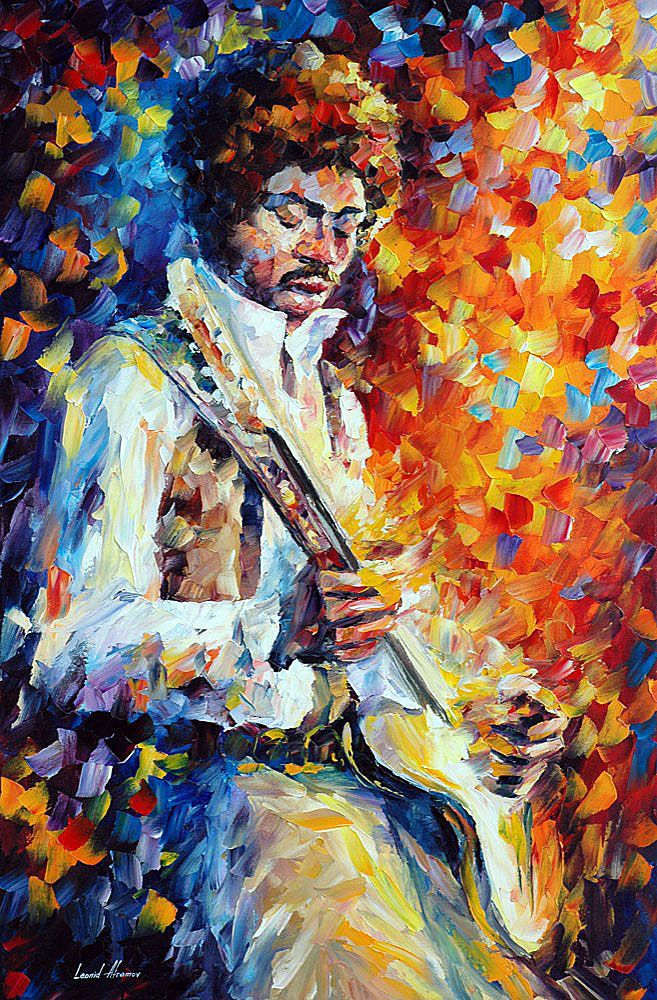 Guitar Ballad - Original Oil Painting On Canvas By Leonid