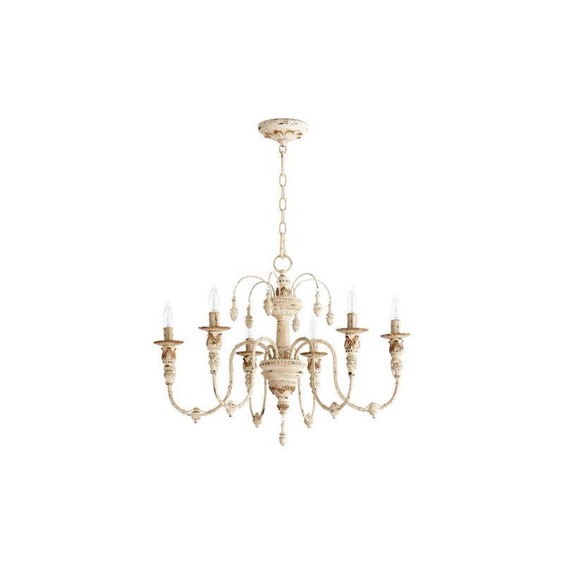 Photo of Quorum International 6316-6-70 Persian White Salento 6 Light 1 Tier Chandelier