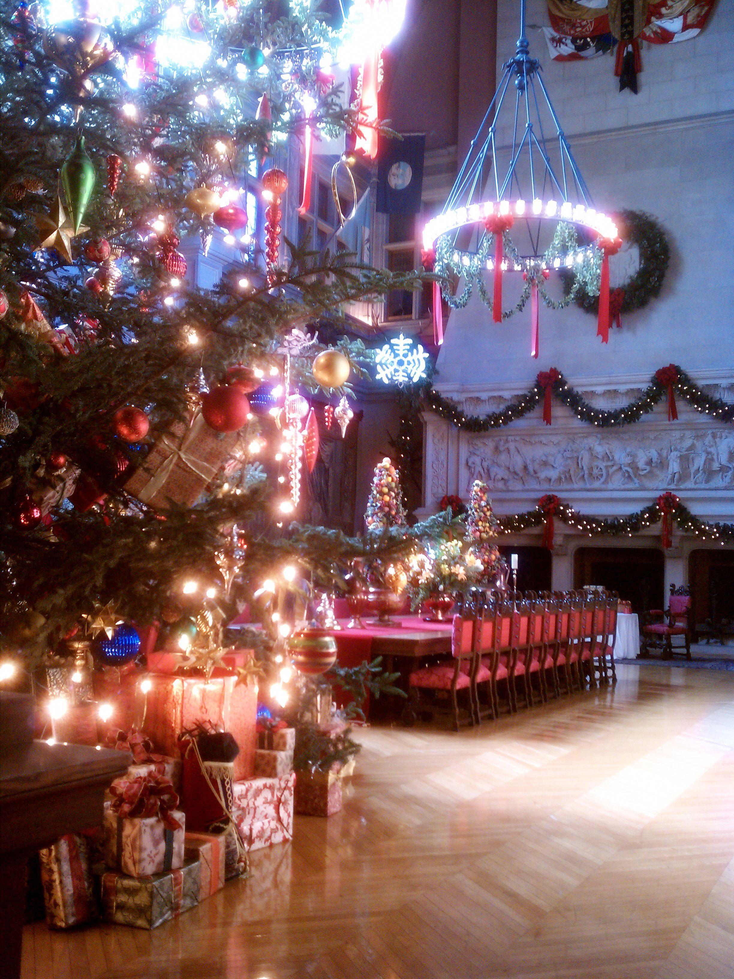 biltmore estate at christmas asheville north carolina rh pinterest com