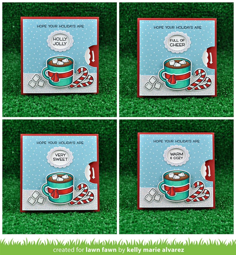 """Lawn Fawn  REVEAL WHEEL SQUARE AddOn Lawn Cuts Die Set is part of lawn Fawn Thanks A Latte - Lawn Fawn  REVEAL WHEELSQUAREAddOn Lawn Cuts Die Set Pair this set with Reveal Wheel to create an awesome interactive card in a versatile square shape  This addon set also includes two new window and frame styles, including a heart that is perfect for Valentine's Day and """"I love you"""" cards! Plus, many of the senti"""