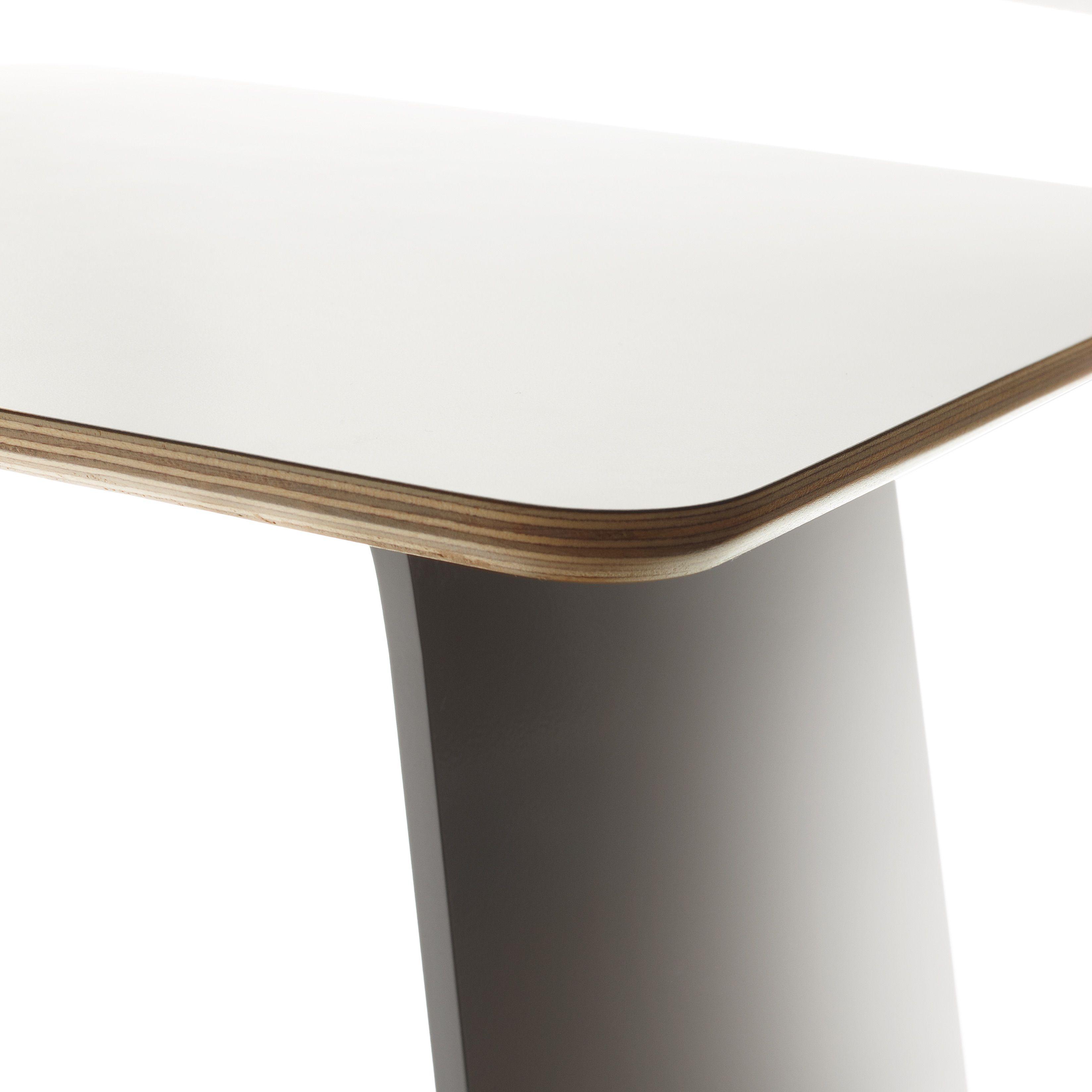 Move Table White Laminate Top Ply Edge Table White Laminate