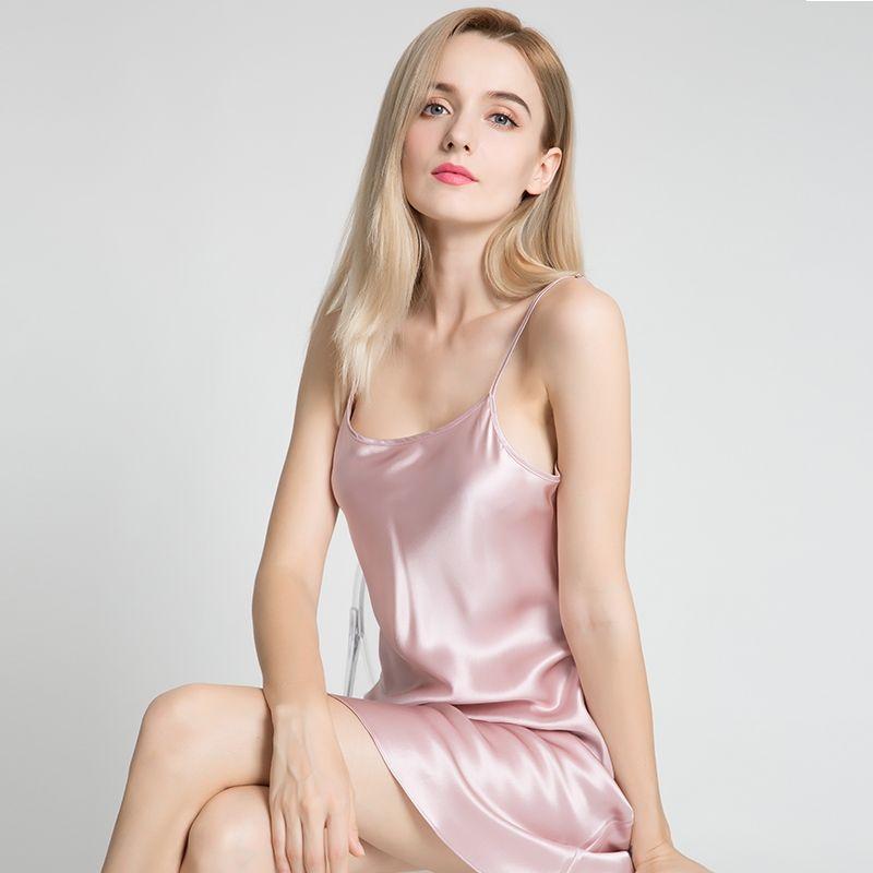 22 Momme Elegant Silk Slip Nightgown  963f3e99a