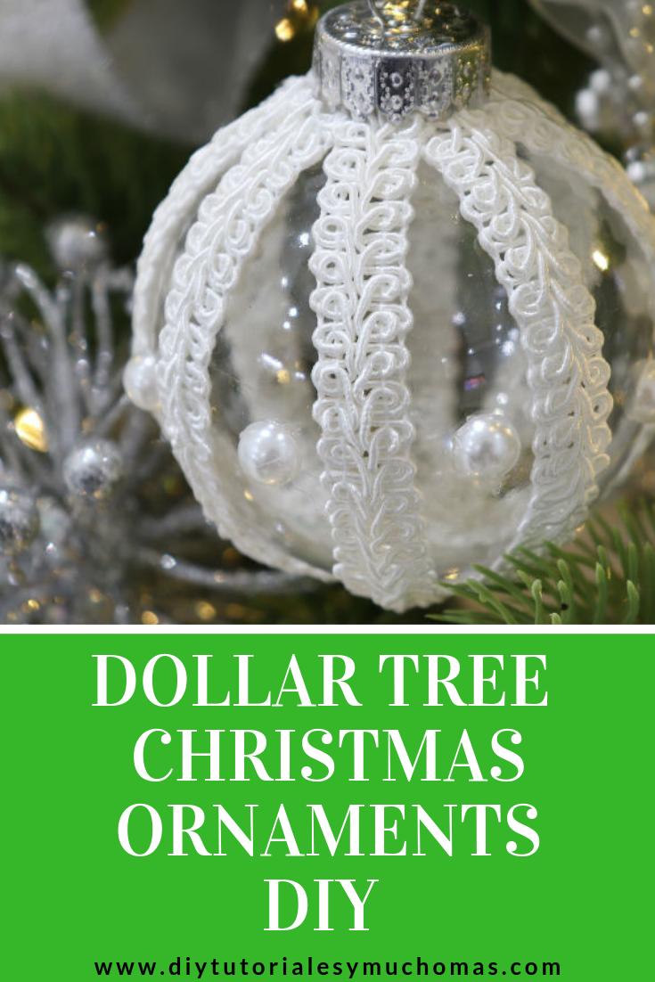 Idea To Decorate Dollar Tree Christmas Ornaments Diy Tutoriales Y Mucho Mas Victorian Christmas Ornaments Christmas Ornaments Diy Christmas Tree Ornaments